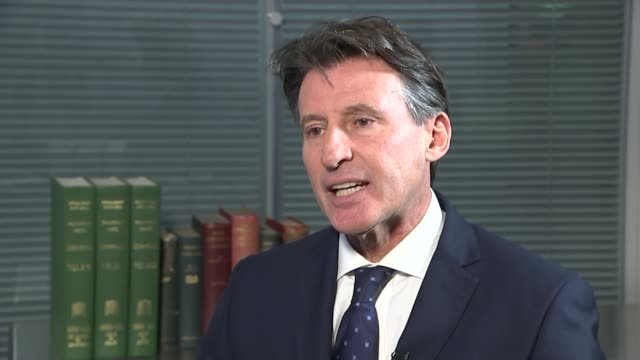 vídeos de stock, filmes e b-roll de doping affected the london 2012 olympic games england int lord coe interview sot my council will now look at a range of sanctions and ultimately that... - rio russian