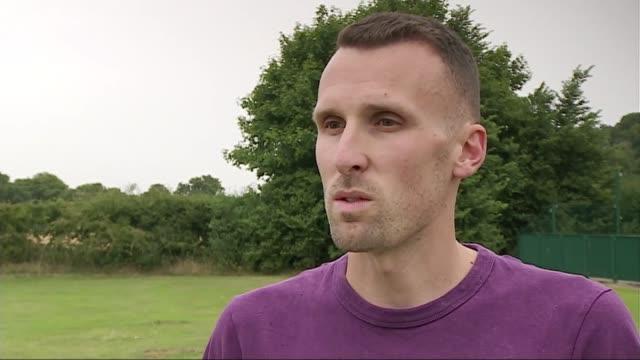 vídeos de stock, filmes e b-roll de iaaf highlights questionable test results of 28 athletes england ext andrew baddeley interview sot - abuso de substâncias