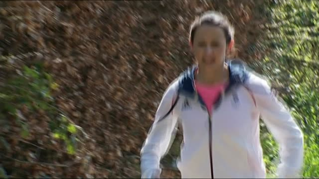 jo pavey calls for investigation into use of thyroxine england devon ext jo pavey along path on training run various of reporter sat with pavey jo... - suchtmittel abhängigkeit stock-videos und b-roll-filmmaterial
