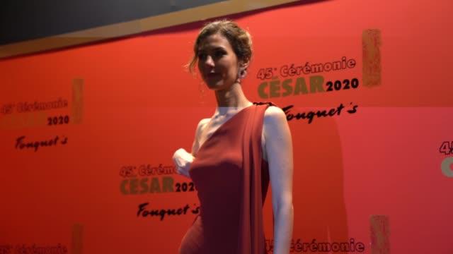 vidéos et rushes de doria tillier attends the dinner at le fouquet's, as part of the cesar film awards 2020, on february 28, 2020 in paris, france. - cesar