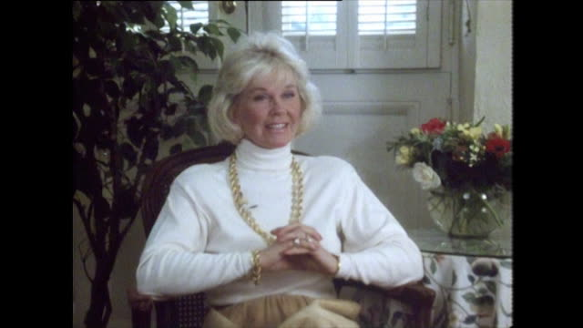 doris day describes being involved in an accident in childhood where a train struck the car she was travelling in which ended her dancing career but... - females stock videos & royalty-free footage