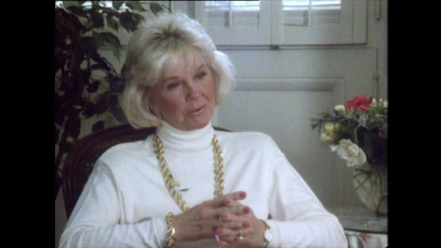 doris day refuses to talk about rock hudson's sexuality and private life out of respect despite being asked about it in the past first of all i know... - gossip stock videos & royalty-free footage