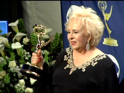 doris roberts at the 2005 emmy awards press room at the shrine auditorium in los angeles, california on september 19, 2005. - doris roberts stock videos & royalty-free footage