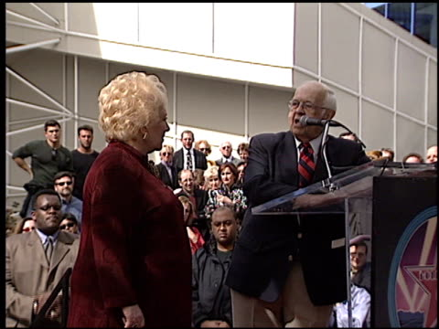 doris roberts at the dediction of doris roberts's walk of fame star at the hollywood walk of fame in hollywood, california on february 10, 2003. - doris roberts stock videos & royalty-free footage