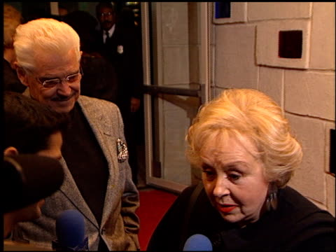 doris roberts at the 'diamonds' los angeles premiere at the mann festival theater in westwood, california on december 5, 1999. - doris roberts stock videos & royalty-free footage