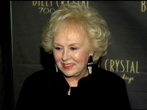 doris roberts at the los angeles opening night of the tony award winning broadway show billy crystal '700 sundays' at the wilshire theatre in beverly... - broadway show stock videos and b-roll footage