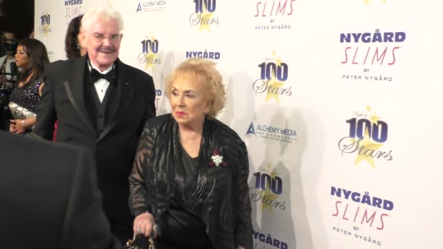 doris roberts & jack betts at norby walters' 26th annual night of 100 stars oscar viewing at the beverly hilton hotel in beverly hills in celebrity... - doris roberts stock videos & royalty-free footage