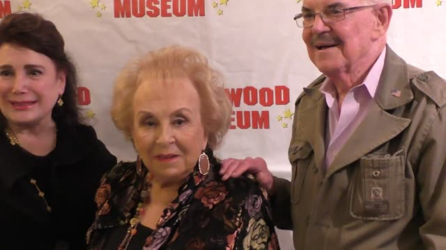 doris roberts & jack betts at the hollywood museum and the hollywood reporter present the awards exhibit at celebrity sightings in los angeles on... - doris roberts stock videos & royalty-free footage
