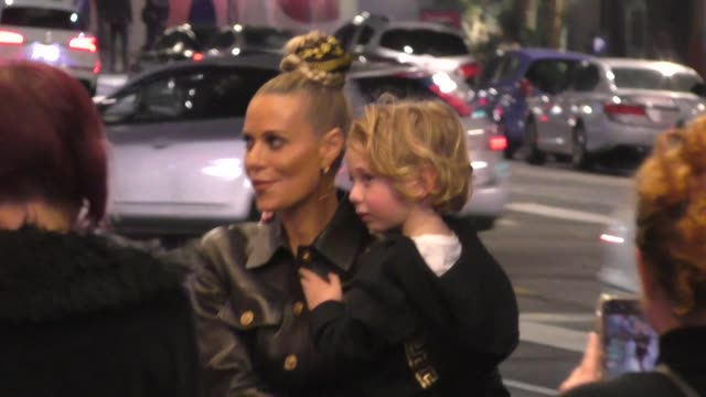 """dorit kemsley outside the opening night of disney's """"frozen"""" at hollywood pantages theatre at celebrity sightings in los angeles on december 06, 2019... - pantages theater stock videos & royalty-free footage"""