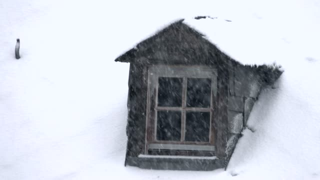 dormer and heavy snowfall, kastel-staadt, rhineland-palatinate, germany, europe - dormer stock videos and b-roll footage