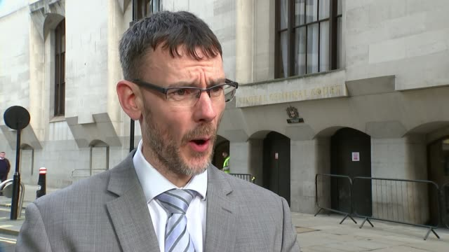 man pleads guilty to murder and sexually assault england london old bailey ext detective inspector gary moncrieff interview sot - crime and murder stock-videos und b-roll-filmmaterial