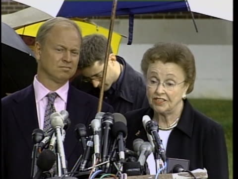 dorothy moxley, martha moxley's mother, comments on the sentence of michael skakel. michael skakel is a cousin of the kennedy family, and he murdered... - ethel kennedy stock videos & royalty-free footage