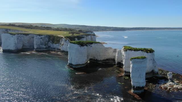 dorset cliffs - england stock videos & royalty-free footage