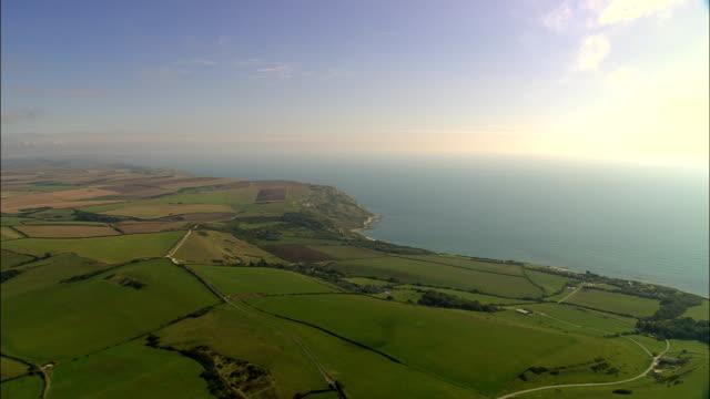 Dorset coast-Luftaufnahme-England, Vereinigtes Königreich