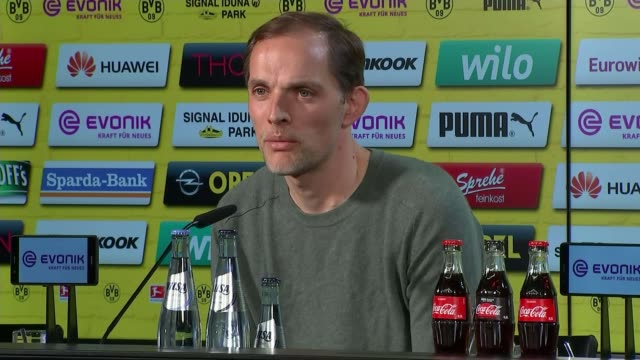 man appears in court dortmund coach attack man appears in court int itv news reporter asking thomas tuchel question at press conference sot/ thomas... - borussia dortmund stock videos and b-roll footage