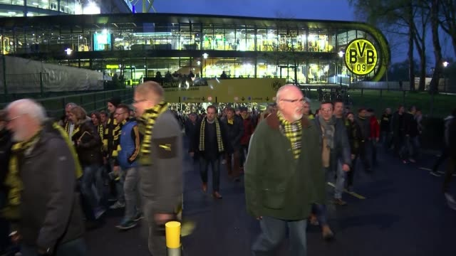 suspect arrested as motive remains unclear Dortmund coach attack suspect arrested as motive remains unclear GERMANY Dortmund Westfalenstadion /...