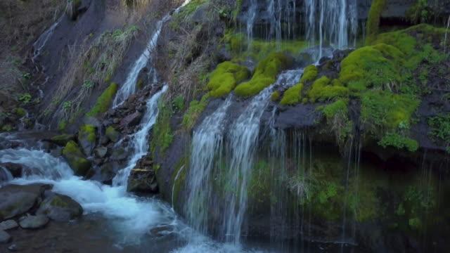 ws aerial doryuno falls, hokuto, yamanashi prefecture, japan - 自然奇觀 個影片檔及 b 捲影像