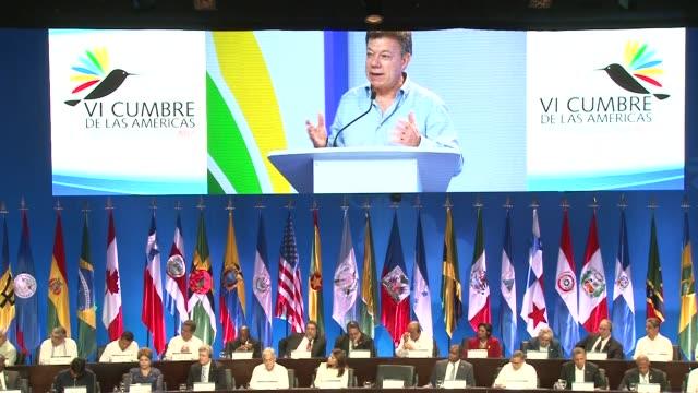 Dos temas centrales para los lideres de las Americas reunidos este sabado y domingo en Cartagena Cartegena Colombia
