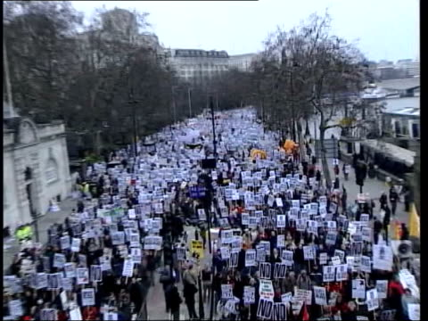 background itn england london antiwar demonstration - peace demonstration stock videos and b-roll footage