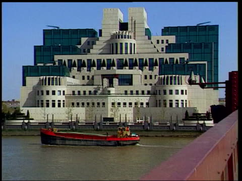 dossier row blair statement bush questioned lib england london mi5 headquarters building - イギリス情報局保安部点の映像素材/bロール