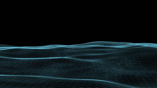 punkt und linien netzwerkwellen bewegen sich frei - schallwelle stock-videos und b-roll-filmmaterial