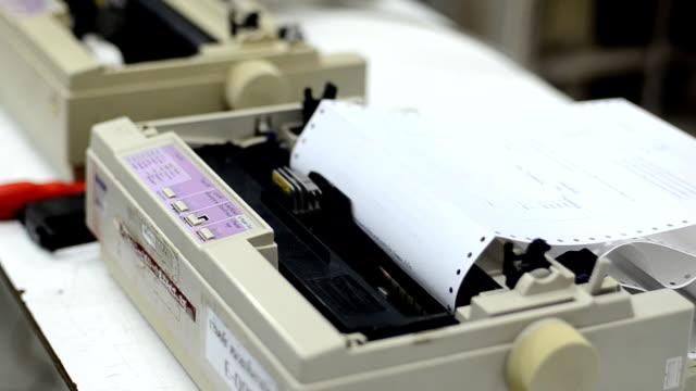 dot metrix printer - printer occupation stock videos and b-roll footage