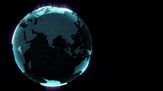dot world globe - spotted stock videos & royalty-free footage