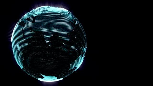 Dot world globe