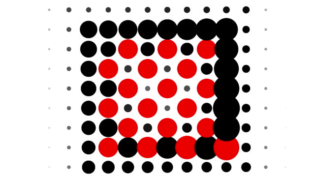 CHESSBOARD PATTERN : dots, spiral progress, finally disappear (TRANSITION)