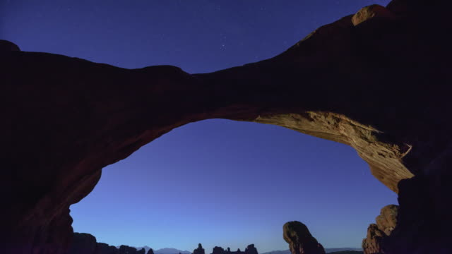 double arch - arches national park stock videos & royalty-free footage