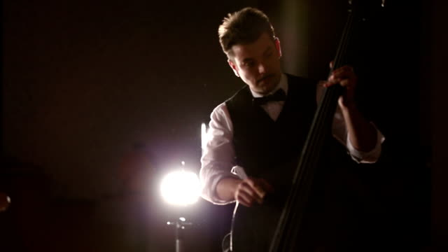 double bass and mustache - jazz stock videos & royalty-free footage