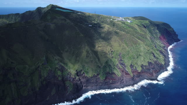 double caldera volcanic island - north of island - north pacific stock videos & royalty-free footage