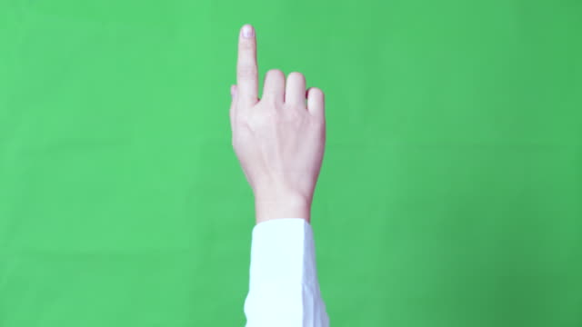 double click ,green screen - finger stock videos & royalty-free footage