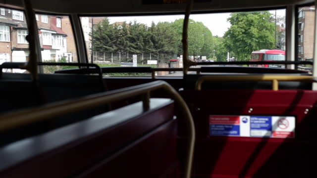 double decker bus interior in london - documentary footage stock videos & royalty-free footage