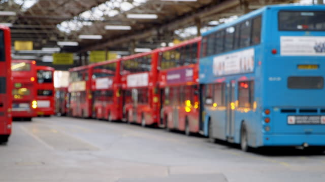 ws double decker buses parked in bus station / london, england, united kingdom - station stock videos & royalty-free footage