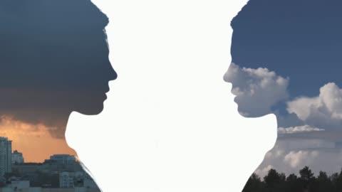 二重露出の肖像画 - シュルレアリスム点の映像素材/bロール