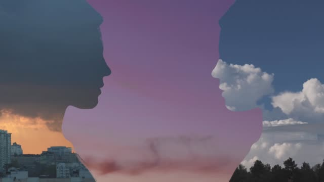 doppelbelichtung porträt - digital composite stock-videos und b-roll-filmmaterial