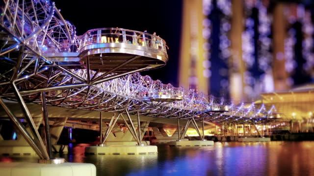 double helix bridge - helix bridge stock videos & royalty-free footage