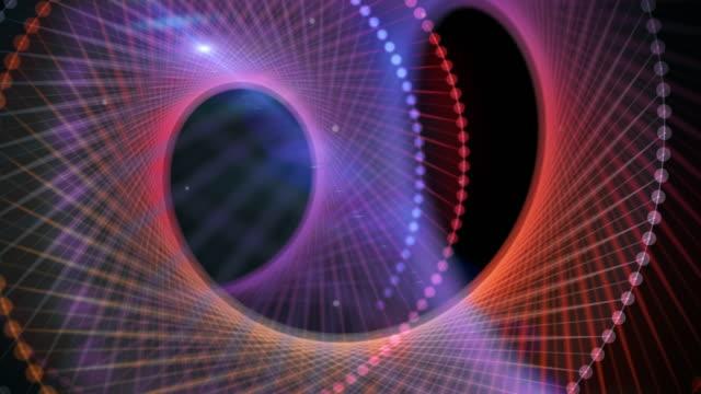 vídeos de stock, filmes e b-roll de dna helicoidal dupla - imagem em movimento circular