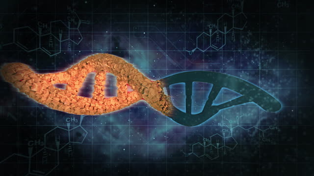dna doppi helixes modifica - biomedical illustration video stock e b–roll