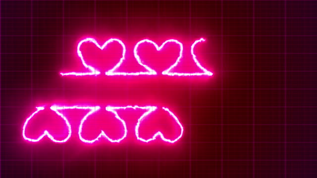 double of heart shape pulse trace, loop animation, valentine's day - pulse oxymeter stock videos and b-roll footage