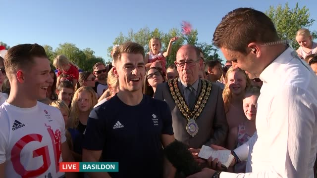 double olympic gold medallist max whitlock returns to basildon gym; whitlock live interview sot brinn bevan live interview sot - basildon stock-videos und b-roll-filmmaterial