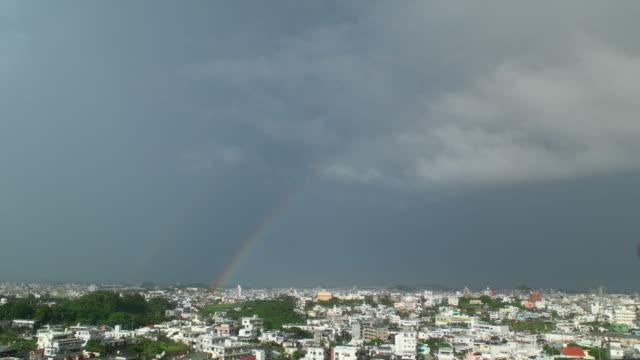二重の虹と市。 - 虹点の映像素材/bロール