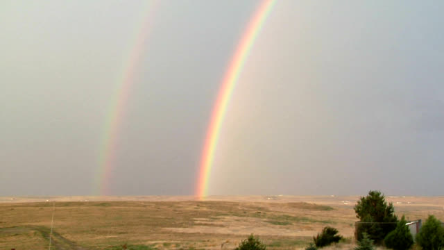 double rainbow - double refraction stock videos & royalty-free footage