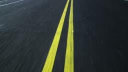 HD LOOPING: Double yellow line