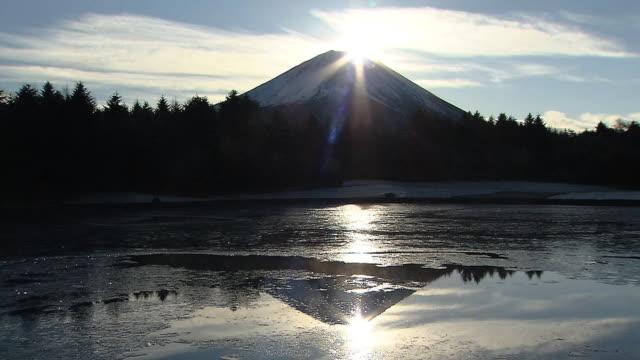 'Double-Diamond Fuji' On New Year's Day, Japan