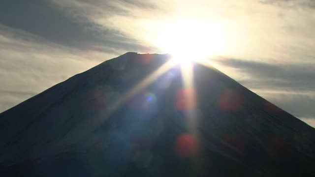 'Double-Diamond Fuji' On New Year's Day, Japan