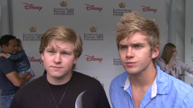 doug chris brochu on how they feels to be at the 22nd annual time for heroes celebrity picnic if this is their first time attending why they wanted... - elizabeth glaser pediatric aids foundation stock videos & royalty-free footage