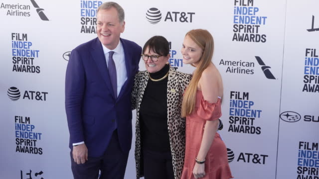 doug parker and bonnie tiburzi at the 2019 film independent spirit awards on february 23 2019 in santa monica california - film independent spirit awards stock videos & royalty-free footage