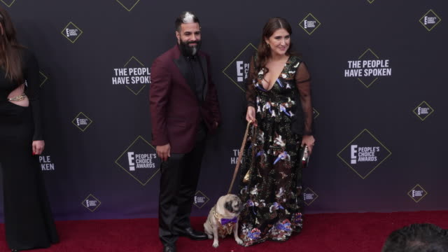 doug the pug at the 2019 e! people's choice awards at barker hangar on november 10, 2019 in santa monica, california. - celebritet bildbanksvideor och videomaterial från bakom kulisserna